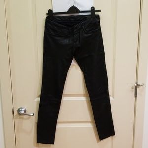 Leather women's pants